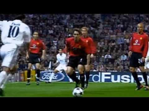 Luís Figo goal for 1-0 | Real Madrid 3-1 Manchester United (08/04/2003)