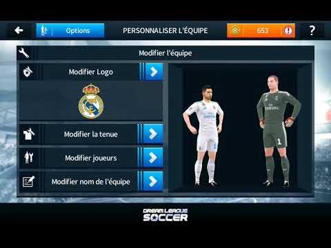Comment avoir les pull du Real Madrid sur dream league soccer 18 +le logo+les pull des gardiens