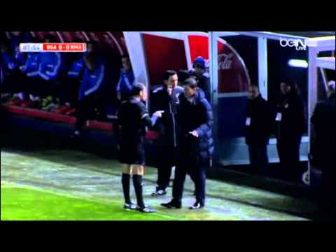 Osasuna Coach get Yellow Card After Making Angry the Referee!! |Real Madrid vs Osasuna 15/01/2014||