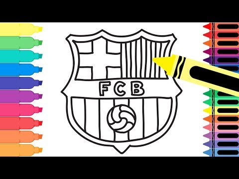 How to Draw FC Barcelona Badge – Drawing the Barca Logo – Coloring Pages for kids | Tanimated Toys