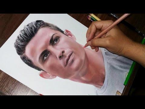 Desenhando o Cristiano Ronaldo | Real Madrid (REDRAWING)