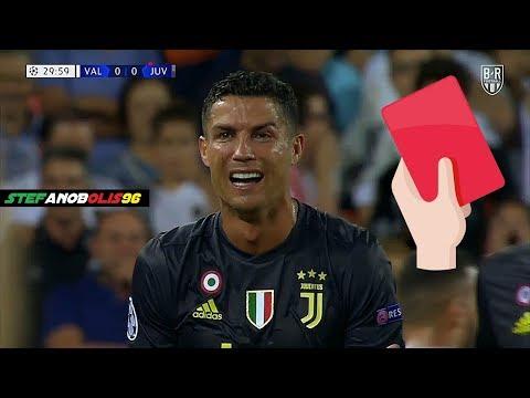 Cristiano Ronaldo 🔴 Espulsione \ Red Card \ Expulsado ⚽ Valencia VS Juventus 0-2 ⚽ HD