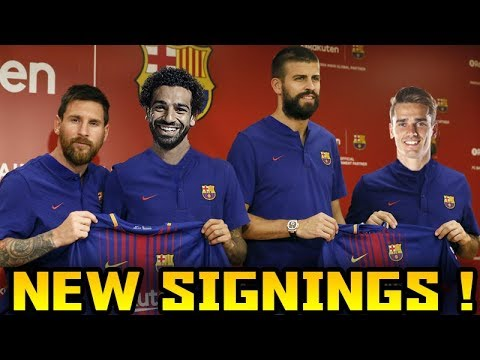FC Barcelona TRANSFER Targets 2018 (TOP 10) Transfer News ft. Salah Martial Griezmann