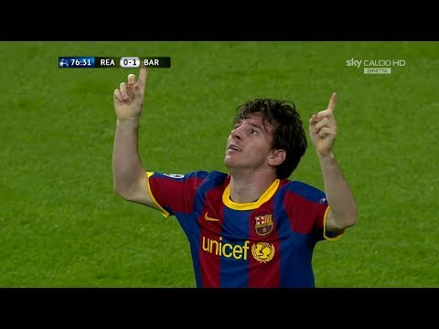 Lionel Messi vs Real Madrid (UCL) (Away) 2010-11 English Commentary HD 1080i