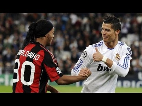 When Cristiano Ronaldo and Ronaldinho met for the first time