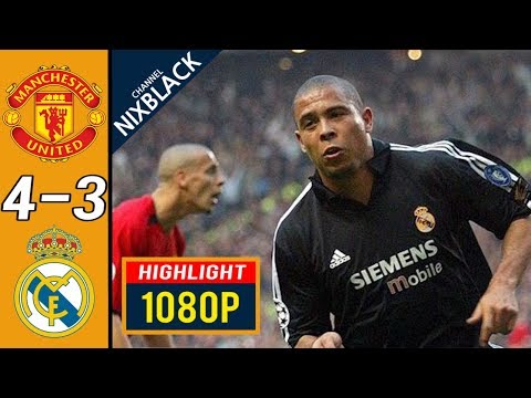 Manchester United 4-3 Real Madrid 2003 CL Quarter Finals All goals & Highlights FHD/1080P