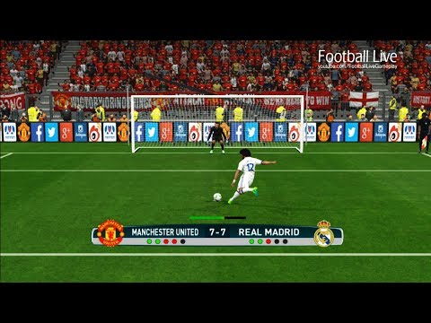 PES 2017 | Manchester United vs Real Madrid | Penalty Shootout | Gameplay PC
