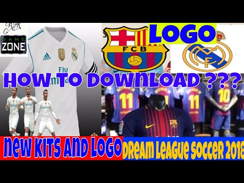 How to change logo and kits in Dream league soccer 2018||How to download kits for dream league 2018