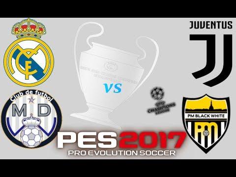 Let's play: Pro Evolution Soccer 2017 -MD White(Real Madrid) vs PM Black White(Juventus) [Superstar]