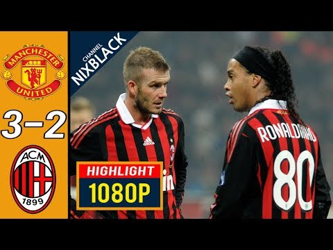 Manchester United 3-2 AC Milan 2010 CL Round of 16 All goals & Highlights FHD/1080P