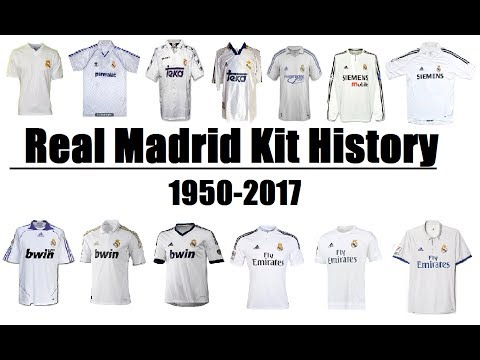 Real Madrid CF Kits Evolution Throughout History | 1950-2017