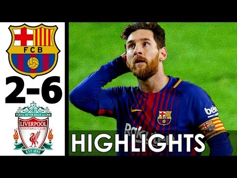 FC Barcelona vs Liverpool 2-6 All Goals and Highlights w/ English Commentary (2007+2016) HD 720p