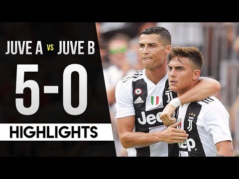 Juventus A vs Juventus B 5-0 Highlights HD (Cristiano Ronaldo's Debut) 2018/19