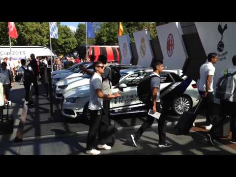 Audi Cup 2015: Real Madrid (Kroos, Bale and Co.) arrives at the Teamhotel in Munich