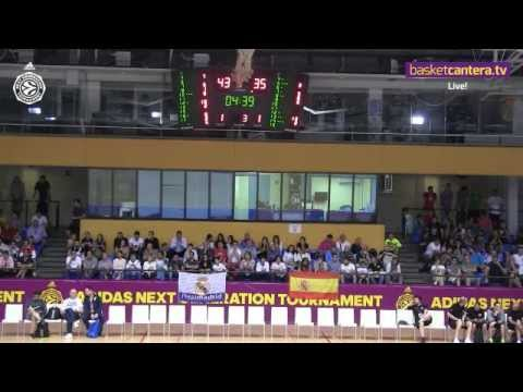 U18 – REAL MADRID vs. INSEP PARIS.- EB AdidasNGT Madrid 2015 (LIVE)
