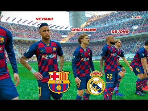 Neymar, De Jong, Griezmann going to Barcelona? | Barcelona vs Real Madrid | El Clasico | PES 2019
