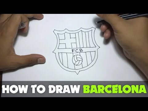 Drawing: How to Draw a Cartoon – FC Barcelona Logo (Tutorial Step by Step)