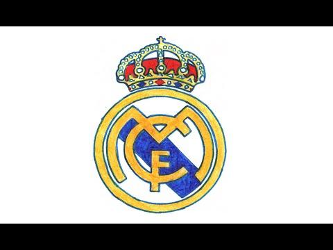 Comment dessiner le logo du Real Madrid pas à pas (football espagnol, CF)