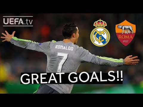 RONALDO, FIGO, TOTTI: Great REAL MADRID and ROMA Goals