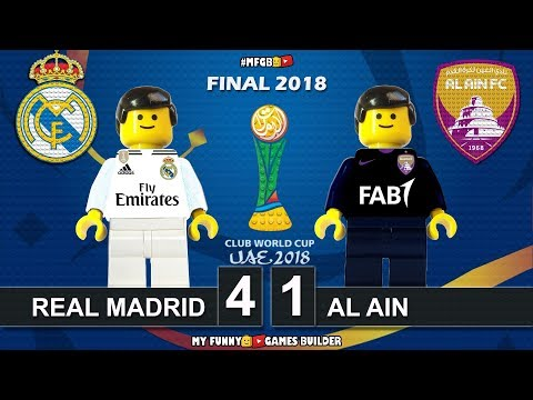 Club World Cup Final 2018 • Real Madrid vs Al Ain 4-1 (UAE 2018) All Goals Highlights Lego Football