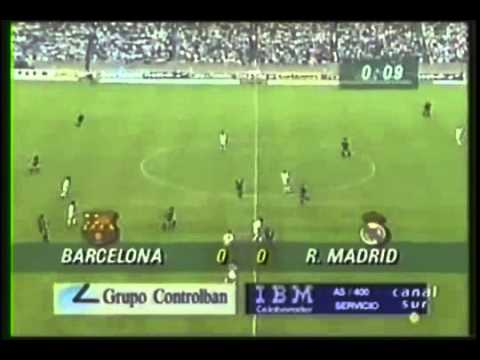 Amazing  Real Madrid vs Barcelona Copa 1993 Part 1  2014   Special