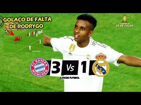 RODRYGO DESTRUIU E FEZ GOLAÇO ! Bayern de Munique 3 x 1 Real Madrid – Melhores Momentos – 20/07/2019