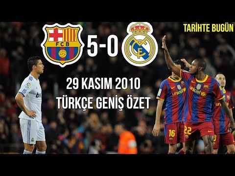 TARİHTE BUGÜN: Barcelona 5-0 Real Madrid | Türkçe Spiker | Geniş Özet 2010 • HD