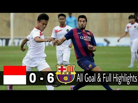 Indonesia vs Barcelona 0-6 All Goal & Full Highlights