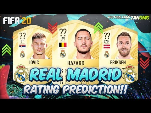 FIFA 20 | REAL MADRID PLAYERS RATING PREDICTION!! | FT. HAZARD, POGBA, JOVIC…