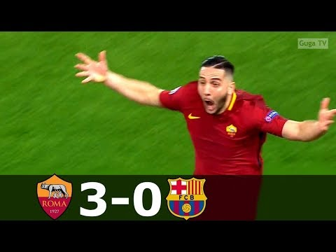 Roma vs Barcelona 3 0   UCL 2017 2018   Highlights English Commentary