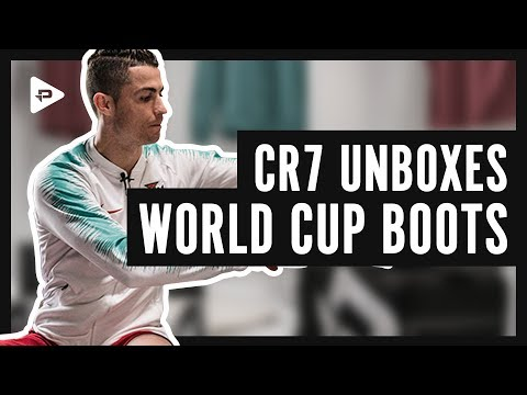 MEETING CR7 IN MADRID! RONALDO UNBOXES NEW WORLD CUP BOOTS