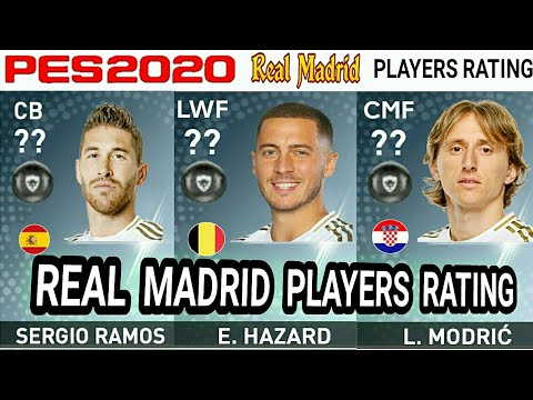 PES 2020 | REAL MADRID PLAYERS RATING PREDICTION | FT. SERGIO RAMOS, HAZARD, MODRIĆ