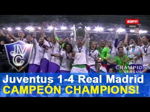 Relato (Fernando Palomo)Juventus 1-4 Real Madrid 03/06/17 final champions 2017