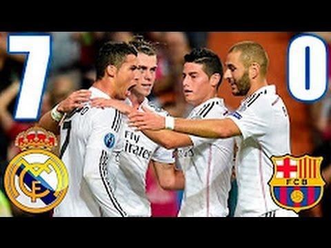 REAL MADRID Vs FC BARCELONA 7 – 0  ARCHIVE EL CLASICO