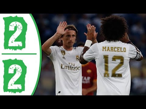 Real Madrid vs AS Roma 2-2 Highlights & Goals 2019