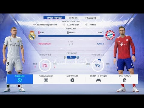 FIFA 19 – Madrid Vs Bayern Munich – FULL GAMEPLAY