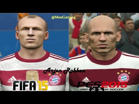FIFA 15 vs PES 2015 – BAYERN MUNICH Face Comparison |HD 1080p