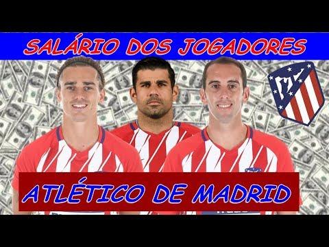 • Salário dos Jogadores do ATLÉTICO DE MADRID 2018 • [Atualizado]