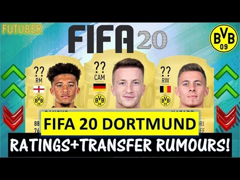 FIFA 20 | BORUSSIA DORTMUND PLAYER RATINGS!! FT. REUS, SANCHO,HAZARD ETC.(TRANSFER RUMOURS INCLUDED)