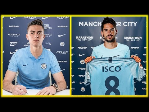 MAN CITY TRANSFER NEWS : Top 5 MAN CITY Transfer Targets January 2019 ft Dybala & Isco