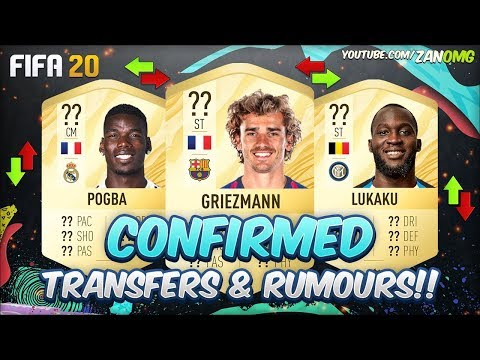 FIFA 20 | CONFIRMED TRANSFERS & RUMOURS!! | FT. POGBA, GRIEZMANN, LUKAKU…