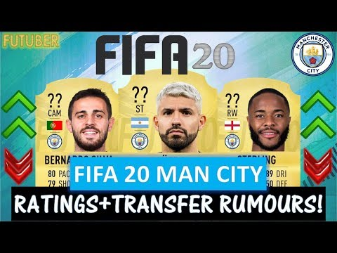 FIFA 20 | MANCHESTER CITY PLAYER RATINGS!!FT. AGUERO, STERLING, SILVA ETC(TRANSFER RUMOURS INCLUDED)