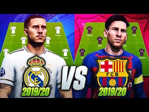 FC BARCELONA vs REAL MADRID FIFA 20 GAMEPLAY EXPERIMENT | w GRIEZMANN NEYMAR MESSI & HAZARD💥🔥!!