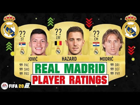 FIFA 20 | REAL MADRID PLAYER RATINGS 😳🔥| FT. HAZARD, JOVIC, MODRIC… etc