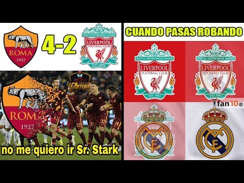 MEMES ROMA VS LIVERPOOL 4-2 | ¿ROBO DEL LIVERPOOL? | FINAL: REAL MADRID VS LIVERPOOL