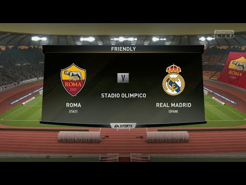 Roma vs Real Madrid||Club Friendly Match||HD Gameplay||Fifa19||Highlights||