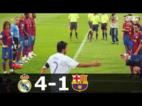 Real Madrid vs Barcelona 4-1 – La Liga 2007/2008 – Highlights (English Commentary)