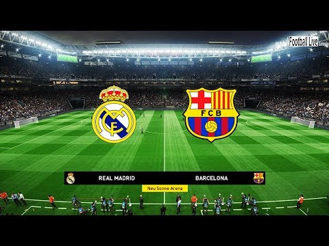 Real Madrid vs Barcelona | Full Match & Amazing Goals & El Clasico | PES 2019 Gameplay PC