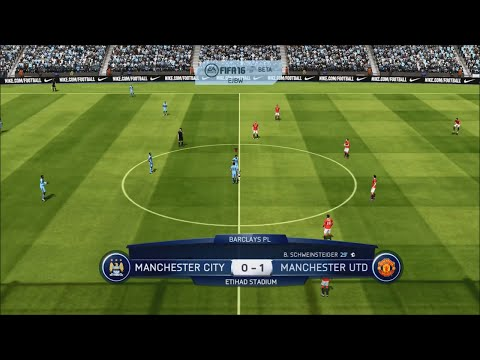 FIFA 16 FULL GAMEPLAY Old Gen Xbox360/Ps3-Manchester City vs Manchester United Match BPL