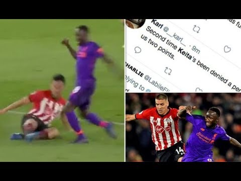 Liverpool fans FURIOUS as referee denies Naby Keita penalty vs Southampton